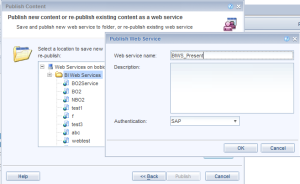 click to add a name to the web services